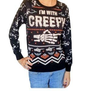 FREEZE Halloween Creepy Sweater